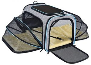 OMORC Pet Carrier Airline Approved, Expandable Foldable Soft-Sided Dog Carrier