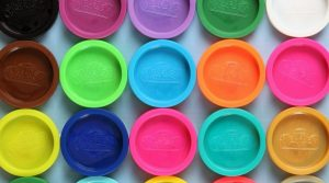 Colorful-Lids-of-Craft-Dough